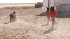 Children in a village in Bolivia Stock Footage