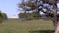 The Hermitage Palace (Eremitageslottet) north of Copenhagen, Denmark Stock Footage