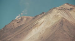 Stock Video Footage of Active Vulcan with fumalore in Bolivia