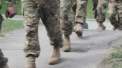 US Marines going to the barracks 4 Stock Footage