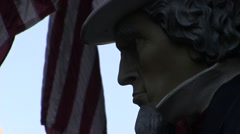 Uncle Sam and American flag Stock Footage