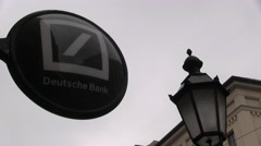 Deutsche Bank Sign Stock Footage