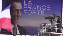 Sarkozy campaign rally Stock Footage