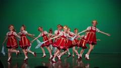 Girls dance Russian folk dance Stock Footage