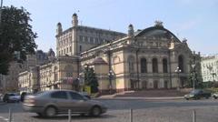 UKRAINE. KIEV. AUGUST 2011: National Opera house of Ukraine. Opera House Stock Footage