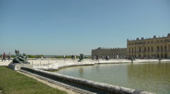 Main pond at Versailles. France Stock Footage