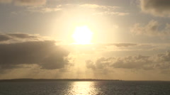 Columbia River Meets Pacific Ocean at Sunset Stock Footage