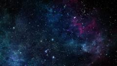 Flying Through Stars and Nebulae Stock Footage