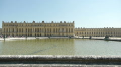 Main fountain at Versailles. France Stock Footage