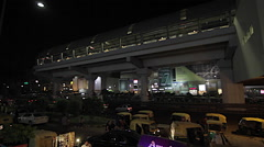 Late night view of Delhi metro station Stock Footage