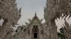 Slow Motion of White Temple. Stock Footage