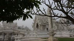 Slow Motion Reveal of White Temple. Stock Footage