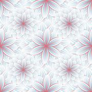 Seamless pattern with flower chrysanthemum Stock Illustration
