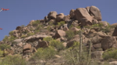 Hill of Rocks in the Desert Stock Footage