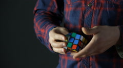 Stock Video Footage of Solving Rubik's Cube