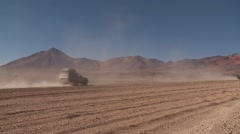 Stock Video Footage of Off-road in Extreme Terrain in Bolivia, Altiplano