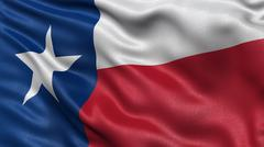 US state flag of Texas - stock photo