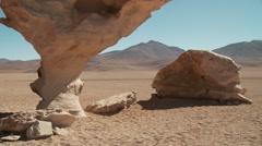 Stone tree, Arbol de piedra, Andes, Bolivia Stock Footage
