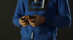 Solved Rubik's Cube Stock Footage