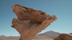 Stone tree (Arbol de piedra), Bolivia Stock Footage