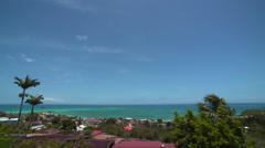Beach with Blue Sky Antigua Timelapse Stock Footage
