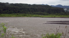 The Pastaza River in the Ecuadorian Amazon looking west towards the Andes.  Stock Footage