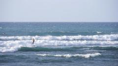 Surfing big waves San Juan Puerto Rico 1 Stock Footage