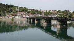 Mosque next to the lumi buna river close to Shkodër Albania Stock Footage