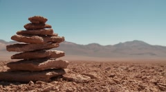 Rock formations, Andes, Bolivia Stock Footage