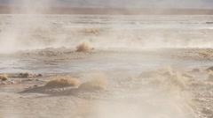 Hot springs Termas de Polques in Bolivia Stock Footage