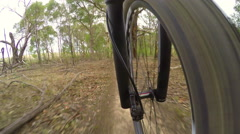 4k timelapse video of mountain biking Stock Footage