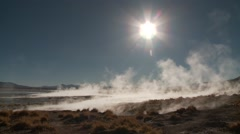 Time lapse, Hot springs Termas de Polques in Bolivia Stock Footage