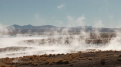 Timelapse, Hot springs Termas de Polques in Bolivia Stock Footage
