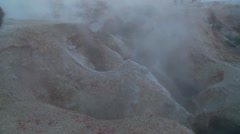Geothermal field in south-western Bolivia - stock footage