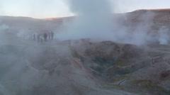 Sol de Mañana, geothermal field in south-western Bolivia Stock Footage