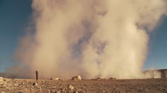 Stock Video Footage of Sol de Mañana, geothermal field in south-western Bolivia