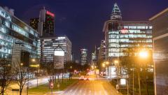 Frankfurt am Main traffic - Hyperlapse - 4K UHD Stock Footage
