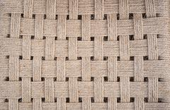 chair weave texture detail - stock photo