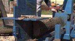 Cleaving wood Stock Footage