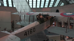 Quantico VA National Museum of the Marine Corp aircraft gunner 4K 076 Stock Footage