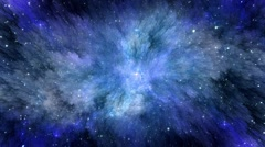 Space Nebulae Background Stock Footage