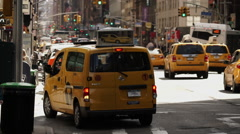 People taking Taxi cab in Manhattan New York City  Stock Footage