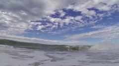 Wave breaking in slow motion Stock Footage