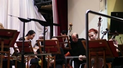 Fragment of the concert of classical music - stock footage