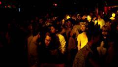 Barcelona Night Disco Party Crowded Sala Apolo - stock footage