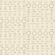 Stock Illustration of Arrows  linear icon set seamless texture.    Editable and design suitable vector