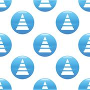 Stock Illustration of Traffic cone sign pattern
