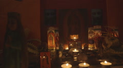 Still shot of religious Altar - background in focus Stock Footage
