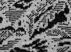 fabric texture endless pattern, black and white - stock photo