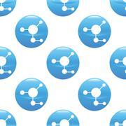 Molecule sign pattern - stock illustration